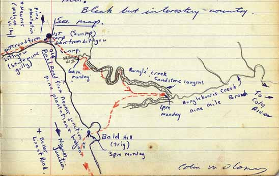 Canyons Recalled Sydney University Bushwalkers - Colo river map