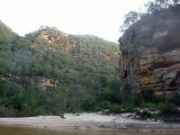 Easy overnight walk to the junction of the	Colo River and Canoe Creek